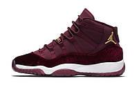 Женские баскетбольные кроссовки Nike Air Jordan 11 Red Velvet Receipt XI Retro Burgundy Maroon Heiress
