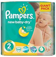 Pampers подгузники New Baby 2 Mini (3-6 кг), 100 шт.