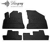 Резиновые коврики Stingray Стингрей Peugeot 5008 2008- Комплект из 4-х ковриков Черный в салон. Доставка по всей Украине. Оплата при получении