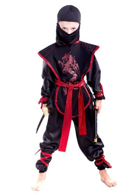 Детский карнавальный костюм Ниндзя черного цвета