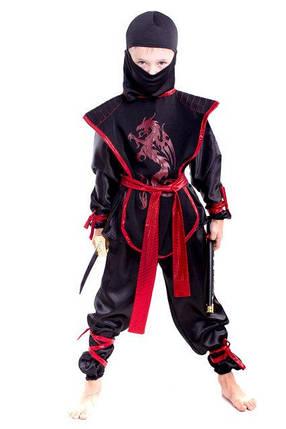 Детский карнавальный костюм Ниндзя черного цвета, фото 2
