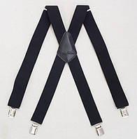 Мужские черные подтяжки Paolo Udini х-образные, фото 1