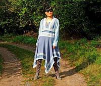 Осеннее платье из шерстяного трикотажа (№45)