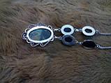 Гарне намисто, кольє з лабрадором в сріблі. Індія!, фото 6