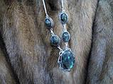 Гарне намисто, кольє з лабрадором в сріблі. Індія!, фото 3