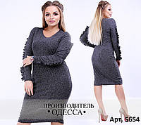 Стильное повседневное платье для леди большого размера 48,50,52,54,56