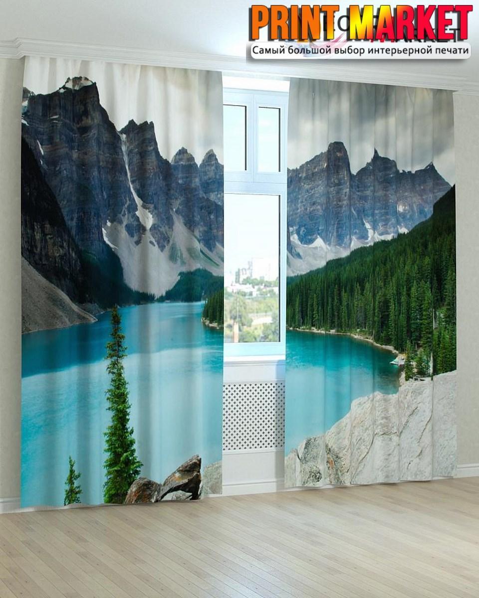 Фотошторы озеро и горы