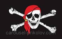 """Пиратский флаг """"Веселый Роджер"""" средний"""