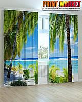 Фотошторы пальмы и кусты