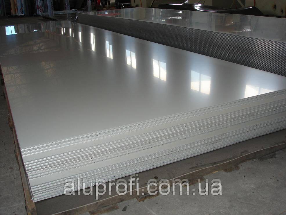 Алюминиевый лист 2,5мм  (1,5х3,0м) 5754 Н22