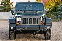 Защитные накладки на передние фары Jeep Wrangler JK