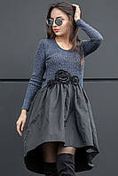 Женское трикотажное платье-маллет