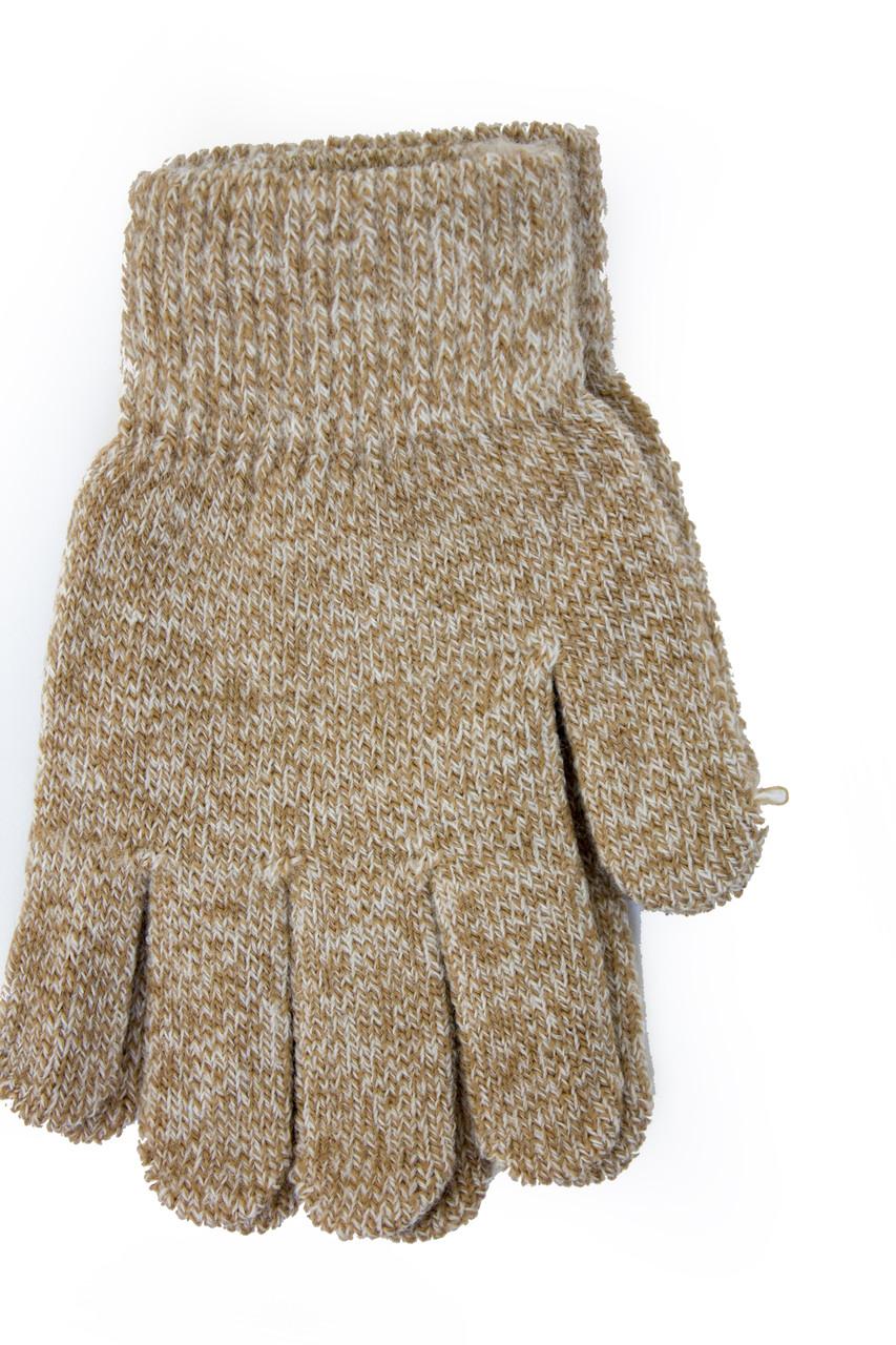 Вязаные перчатки Корона Детские  5002М-12 ореховый