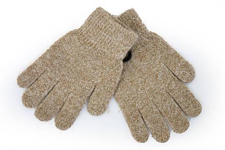 Вязаные перчатки Корона Детские  5002М-12 ореховый, фото 2