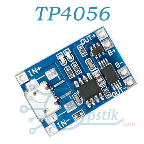 Модуль TP4056, плата заряда li-ion батарей с защитой