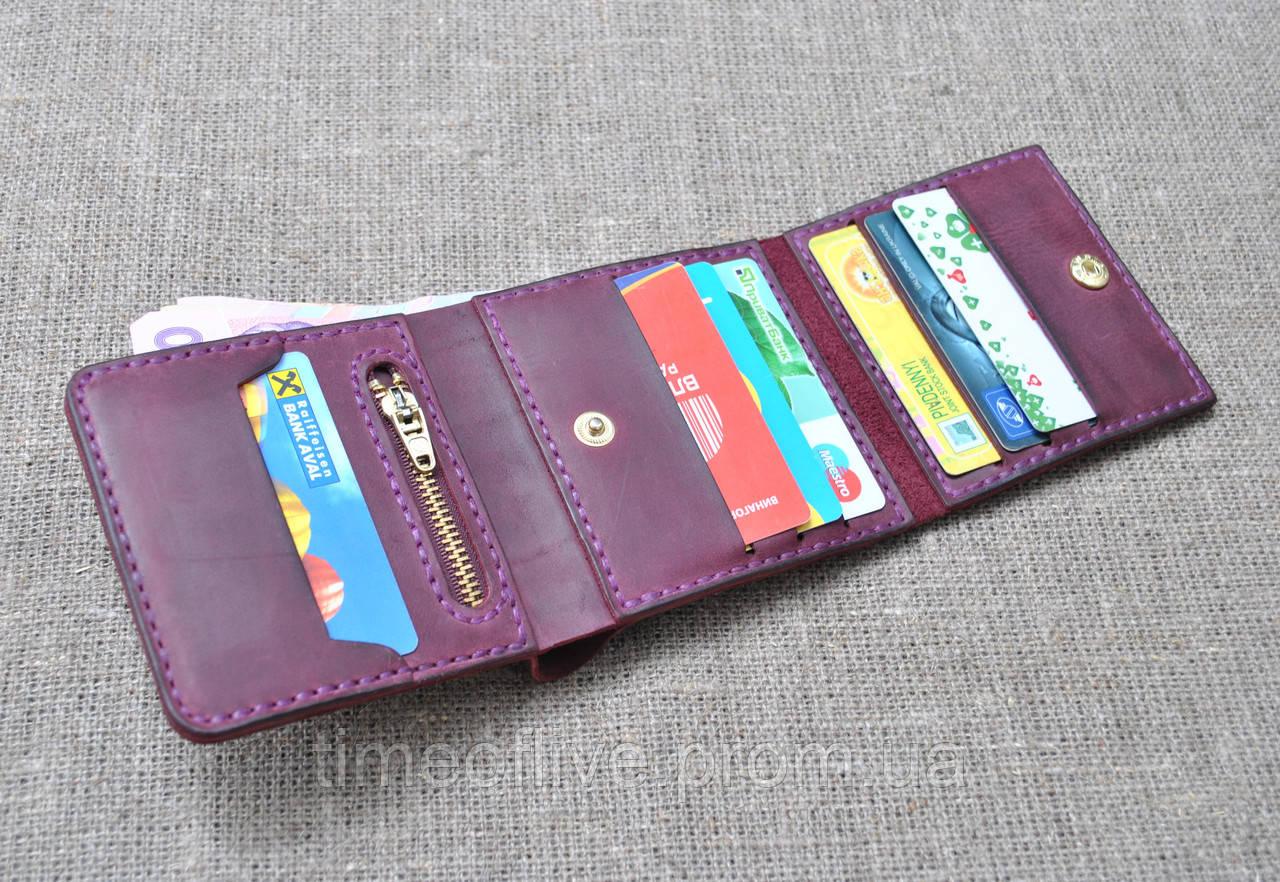 Небольшой но вместительный кошелек из натуральной кожи ручной работы
