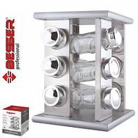 Набор для специй на металической подставке Besser (12 емкостей) 18*18*24см.