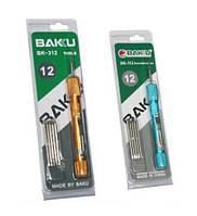 Набор прецизионных отверток 12 насадок для ремонта мобильных телефонов Baku BK312