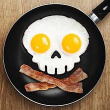 Форма для жарки яиц Череп (Оранжевый) top-0119