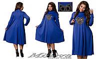 Стильное женское платье  платье большого размера ТМ Минова  размеры: 48,50,52,54