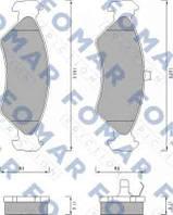 FO488581 Fomar Roulunds колодки передние