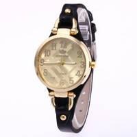 Часы женские Rinnady тонкий ремешой Черные 088-2