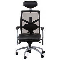 Кресло Special4You EXACT BLACK LEATHER, BLACK MESH (E0604)