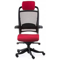 Кресло Special4You FULKRUM DEEPRED FABRIC, BLACK MESH (E0635)