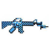 Пиксельнный Алмазный автомат M16 Майнкрафт Minecraft MachineGun