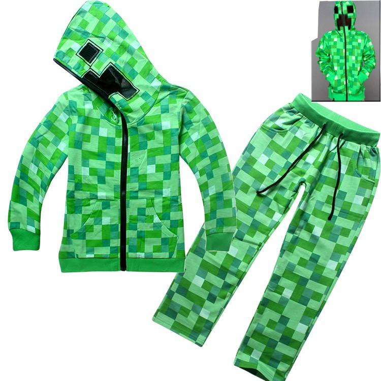 023bcf97 Спортивный костюм на мальчика Minecraft Creeper зеленый: продажа ...