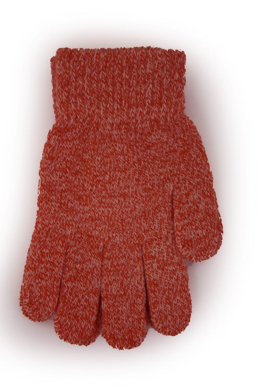 Детские вязаные перчатки 5002S-5 красные