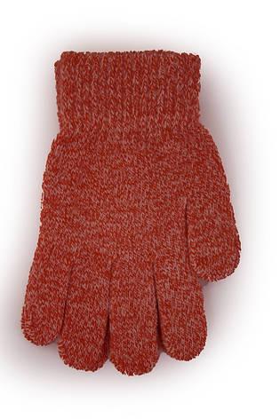 Детские вязаные перчатки 5002S-5 красные, фото 2