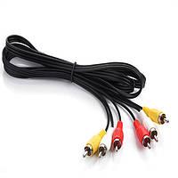 Кабель AV (тюльпан) композитный аудио-видео кабель 3 RCA