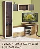 Пенал 2 ящика со стеклом К-2.2 Келли/Kelly профиль МДФ (Континент) 420х425х1850мм , фото 7