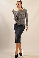Блуза Сити-Зима цвет серый меланж  Ри Мари