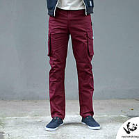 Подростковые брюки-карго Orion (бордовые)