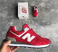 Женские кроссовки New Balance 574 Нью Беланс 574 красные