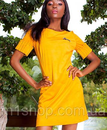 Женское замшевое платье-туника (Сеттиjd), фото 2