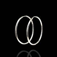 Серебряные серьги-кольца (Конго), 38мм