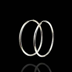 Серебряные серьги-кольца (Конго), d-36мм, фото 2