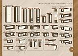 Пенал 2 ящика со стеклом К-2.2 Келли/Kelly профиль МДФ (Континент) 420х425х1850мм , фото 3