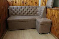 Мягкий диванчик на балкон или лоджию (Кофейный)
