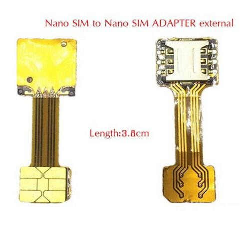 Перехідник на 2 SIM + MicroSD в комбінований лоток, адаптер nanoSIM