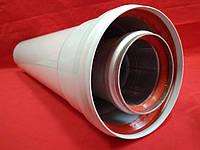 Удлинитель 0,5м (500мм) коаксиальный 60/100 турбо усиленный
