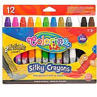 Мелки выкручивающиеся шелковые  12 цветов 36078PTR