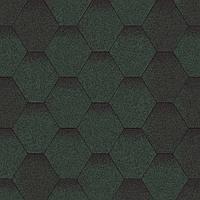 Битумная черепица Aquaizol Мозаика 320х1000 мм Зелёный Микс