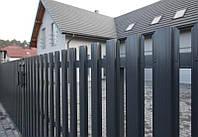 Забор ШТАКЕТный  металлический 2,0 х 1,0м. Премиум, 1-ст. зашивка