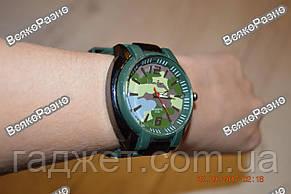 Мужские камуфляжные силиконовые часы., фото 3