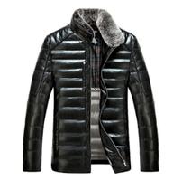 Мужская кожаная зимняя куртка. Модель 61574