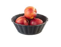 Корзинка для хлеба или фруктов круглая, D20см черная APS 40214